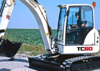 terex tc60 digger hire london