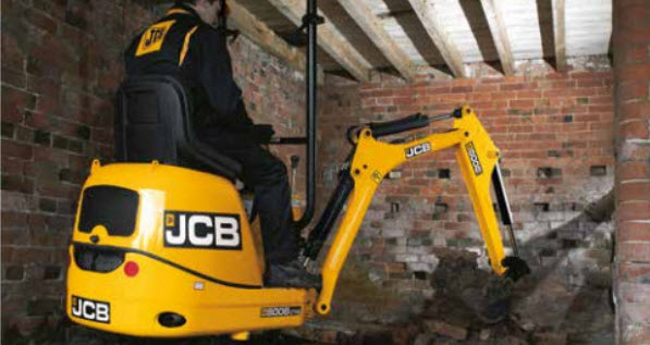 Mini digger and driver hire Central London