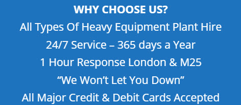Digger Hire Central London